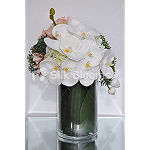 Garden Fresh Phalaenopsis Orchids Allium Hydrangea Vase Display 9