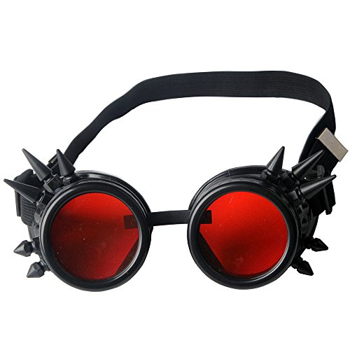 Cyber Goggles - Hallowmas Cosplay Goggles, Punk Style Glasses Spiked Steampunk Goggles BEST for Christmas, Festival