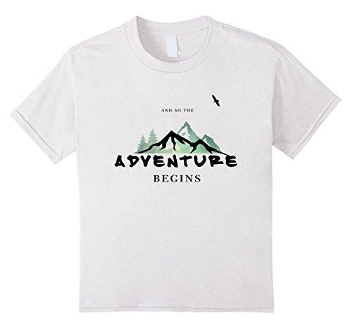 Kids Tee Love Adventure T-Shirt - Travel T-Shirt - Travel Gift 10 White