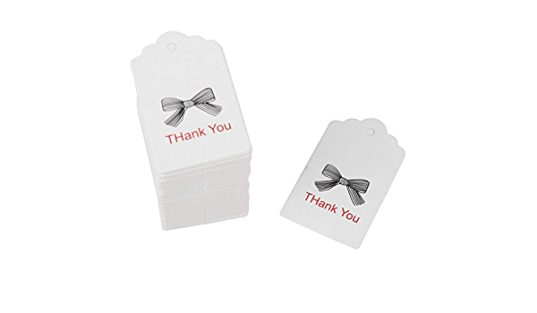 Packpapier 100pcs White Handmade Hang Label Wedding Favor Gift Tags Clothing Jewelry Price Tag #1
