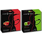 Hydro Herbal 50g, 2 Mix: Strawberry & Double Apple - Best Sellers! Hookah Shisha Tobacco Free Molasses, Value Pack!