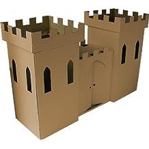 Kideco Cardboard Castle Playhouse Toy (Brown) by Kideco