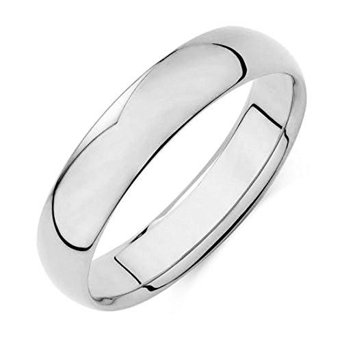 JOTW 14k White Gold 5.8mm Wedding Band Ring (GO-1736-10)