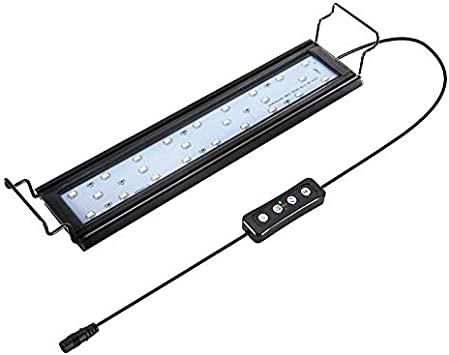 impermeabile luce a LED per acquario AYNEFY Illuminazione LED per serbatoio di acquario per acquari da 30-38 pollici EU EU Plug 100-240 V regolabile