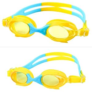 Kids Swim Goggles, Swimming Glasses for Children and Early Teens from 3 to 15 Years Old, Anti-Fog, Waterproof, UV Protection, Made by Boofab (A)