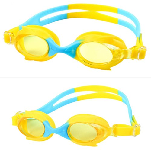 Price comparison product image Kids Swim Goggles,  Swimming Glasses for Children and Early Teens from 3 to 15 Years Old,  Anti-Fog,  Waterproof,  UV Protection,  Made by Boofab (A)