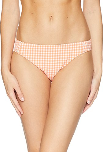 Nanette Lepore Women's Capri Gingham Charmer Bikini Bottom Apricot Medium