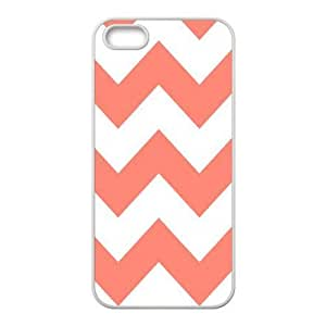 Coral Chevron ZLB550182 Customized Case for Iphone 5,5S, Iphone 5,5S Case