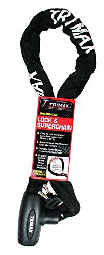 8mm Chain Lock - Trimax THEX836 Integrated Lock & Super Chain - 8mm Links x 36