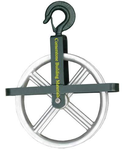 minum Hoist Pulley Wheel for Scaffolding Lifting or Lowering CBM1290 ()
