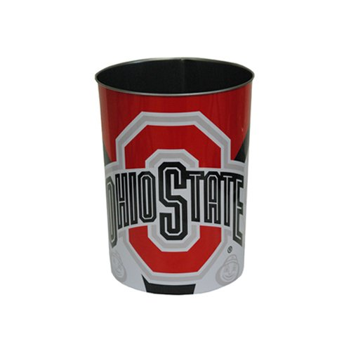 Ohio Wastebasket State - Game Day Outfitters NCAA Ohio State Buckeyes Houseware Waste Basket, One Size, Multicolor