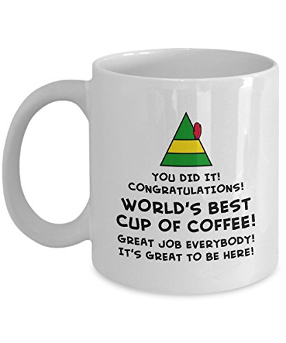 Buddy the Elf Movie World's Best Cup of Coffee Funny Gift Mug Sarcastic Cup