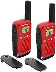 Motorola Talkabout T42 PMR-Radio Walkie Talkie, Set van 2, 6 Kanalen, Bereik 4 km, Rood