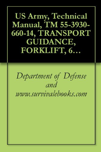 US Army, Technical Manual, TM 55-3930-660-14, TRANSPORT GUIDANCE, FORKLIFT, 6,000-LB, VARIABLE REACH, ROUGH- TERRAIN, MODEL 6000M, (ARMY MODEL MHE-269), (NSN 3930-01-158-0849,