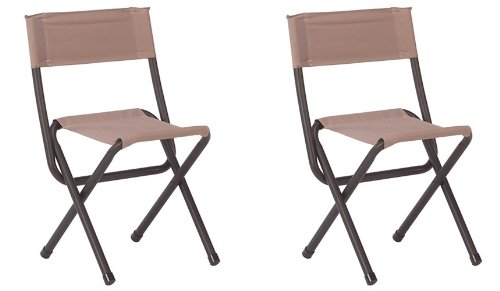 Coleman Aluminum Camping Chair ((2) COLEMAN Portable Outdoor Camping & Hunting Woodsman II Folding Chair Stools)