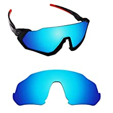 Alphax Ice Blue Polarized Replacement Lenses for Oakley Flight Jacket OO9401
