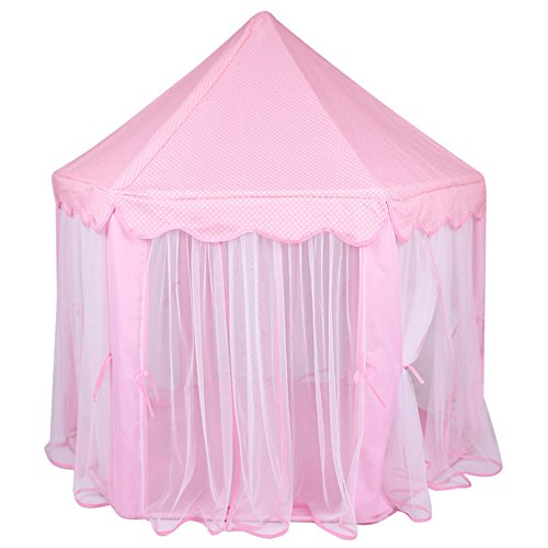 Tenozek Princess Castle Play House Large Outdoor Kids Play Tent for Girls Pink by Tenozek (Image #2)