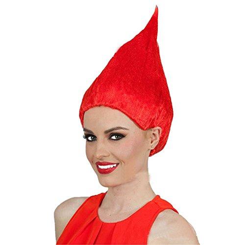 Halloween Wig for Trolls Cosplay Costume Wig (Red) (Troll Doll Halloween Costume)