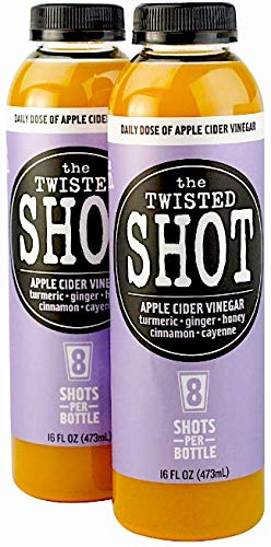 The Twisted Shot | Organic Apple Cider Vinegar Shots with Turmeric, Ginger, Cinnamon, Honey & Cayenne | 2-Pack of 16oz Bottles by The Twisted Shrub