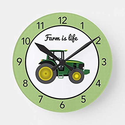 Amazon Tractor Farm Is Life Nursery Wood Clock For Bedroom Delectable Tractor Themed Bedroom Minimalist