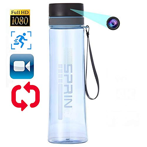 Hidden Spy Camera, HD Water Bottle Portable Camera, Video Recorder Support Motion Detection-No Need WiFi