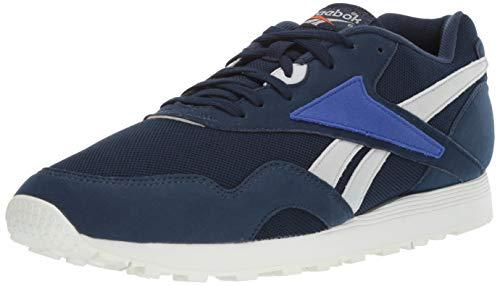 Reebok Men's Rapide Sneaker, Collegiate Navy/Skull Grey/Blue Move/Chalk, 10.5 M US