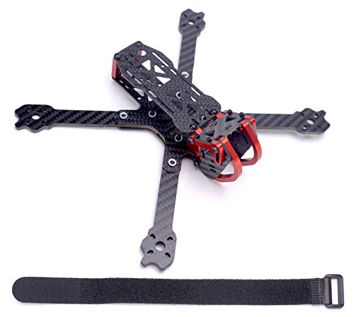 - FPVDrone Dragon X5 225mm FPV Racing Drone Frame Carbon Fiber 5 Inch Quadcopter Frame Aluminum Parts+25cm Lipo Battery Strap