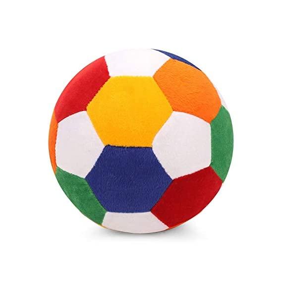 Soft Multicolor Stuffed Ball Plush for Kids ( Boys/Girls )- Medium ( 22 cm )
