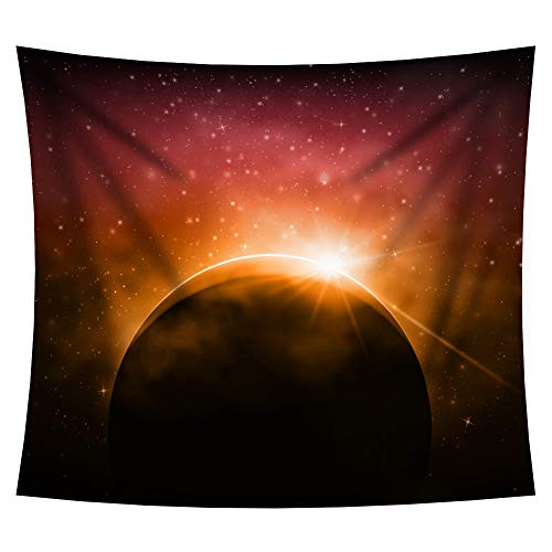 iLeadon Tapestry Wall Hanging Decor-Solar Eclipse Tapestries Wall Art Cotton Headboard Home Decor for Bedroom Dorm Living Room,51