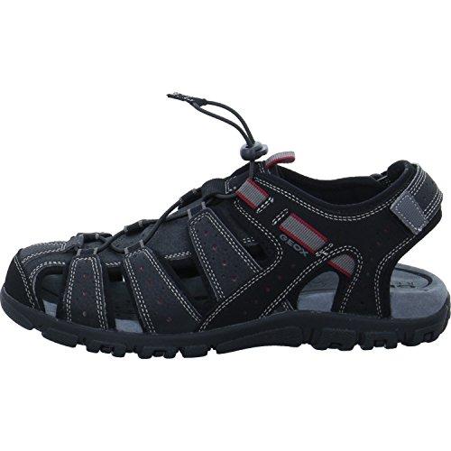 Geox Uomo Sandal Strada B - Sandalias Para Hombre Negro-Gris