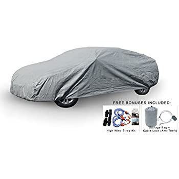 Weatherproof Car Cover Compatible with Porsche Panamera 2010-2019 - 5L Outdoor & Indoor - Protect from Rain, Snow, Hail, UV Rays, Sun - Fleece Lining ...