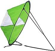 LoneRobe 42 inches Downwind Wind Sail Kit Kayak Wind Sail Kayak Paddle Board Accessories,Easy Setup & Depl