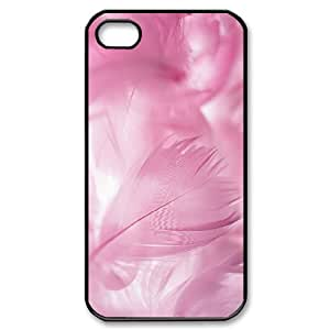 YCHZH Phone case Of Colorful Feathers Cover Case For Iphone 4/4s