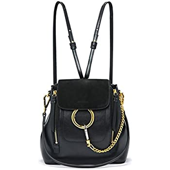a73afc5b20 FairyBridal Women Real Leather Satchel Cross Body Handbags,Backpack 3  Colors (black2)