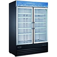 Heavy Duty Glass Door Merchandiser Commercial Reach-In Refrigerator! SABA