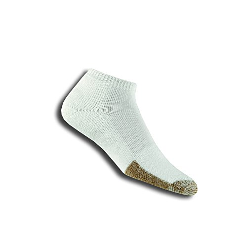 (Thorlos Thick Cushion Tennis Micro Mini Crew Sock Size: L, White with a Helicase Sock Ring)