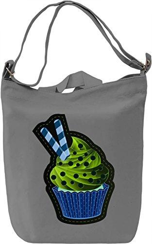 Graphic Cupcake Borsa Giornaliera Canvas Canvas Day Bag| 100% Premium Cotton Canvas| DTG Printing|