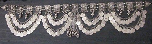 Handcrafted Womens Fashion Belt   Metal Link Chain Coin Medallion Tassel Fringe Tribal Kuchi Belly Dance Festival Vintage Bohemian Gypsy Hippie Jewelry   Boho Wedding Sash Hip Waist Novelty Accessory by IndiaStop (Image #2)