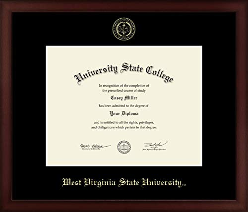 (West Virginia State University - Officially Licensed - Gold Embossed Diploma Frame - Diploma Size 11