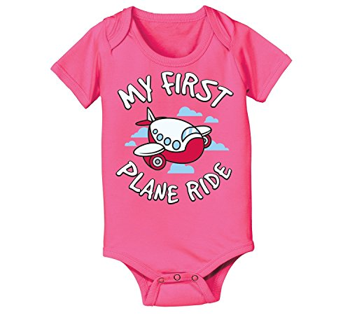 My First Plane Ride Cute Travel Cartoon Airplane Clouds Infant Baby Bodysuit