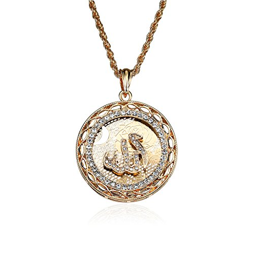Shaoge Arabic Muslim Women Men Gold Plated Islamic Pendant Necklace Jewelry Exquisite
