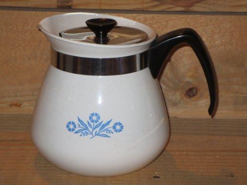 Corning Blue Cornflower 2 Qt. Tall Teapot Tea Pot