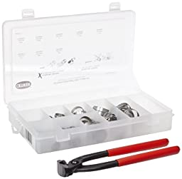 Oetiker 18500060 Stepless 1-Ear Clamp Kit (Stepless Ear Clamps, stainless steel with standard jaw pincer)