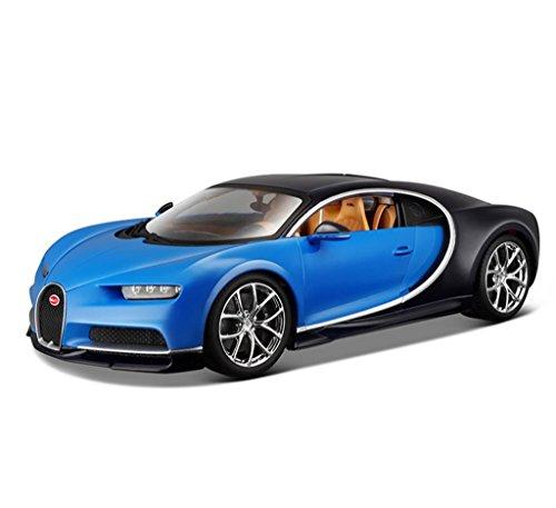 1:18 Bburago Bugatti Chiron Blue Diecast Model Roadster Car Vehicle New in Box by Bburago