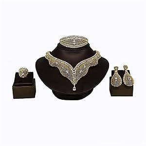 Viennois Jewelry Whole Set Gold Plated with AAA Zircon Imitation Diamond