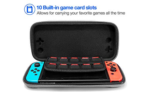 tomtoc Carry Case for Nintendo Switch, Ultra Slim Hard Shell with 10 Game Cartridges, Protective Carrying Case for… 4