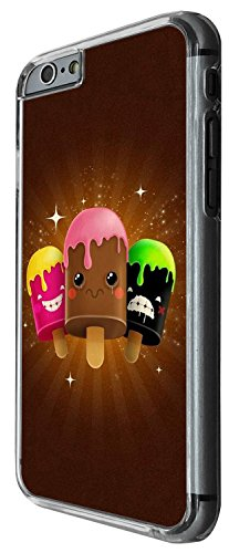 1265 - Cool Fun Trendy cute icecream candy sorbet cartoon emoji sweets animation Design iphone 5C Coque Fashion Trend Case Coque Protection Cover plastique et métal - Clear