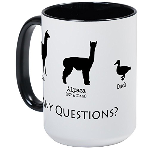 CafePress - Llama, Alpaca, Duck... Any Qu Large Mug - Coffee Mug, Large 15 oz. White Coffee Cup