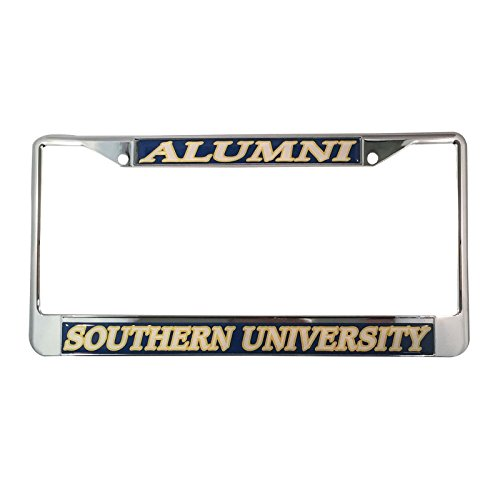 Southern University License Plate Frame/Tag For Front Back of Car Officially Licensed (Alumni - Metal - New Orleans Ford Veterans