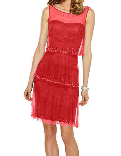 Rot Abendkleider Charmant Promkleider Brautmutterkleider Pailletten Blau Kleider Navy Damen Jugendweihe mit HRwvqB7
